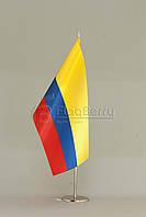 Флажок Колумбии 13,5*25 см., плотный атлас