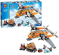 Игра аналог Лего Арктика URBAN 10441, 3 фигурки, вездеход с прицепом, грузовой самолет, глыба льда
