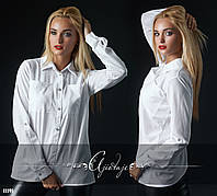 Рубашка женская белая с карманами