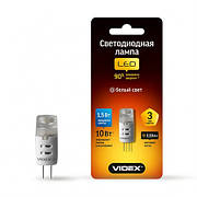 LED лампа VIDEX G4 1.5W G4 4100K 12V