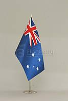 Флажок Австралии 13,5*25 см., плотный атлас