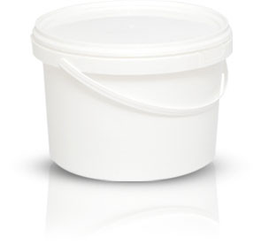 Ведро белое 2.25 литра