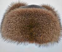 Мужская меховая Ушанка из енота, фото 1