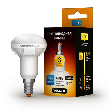LED лампа VIDEX R50 5W E14 3000K 220V