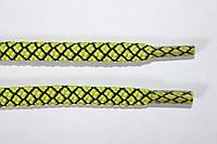 Шнурки круглые 6мм с наполнителем салат+черный, фото 1