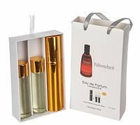 Мужской мини парфюм Christian Dior Fahrenheit (Кристиан Диор Фаренгейт) 3*15 мл