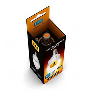 LED лампа VIDEX C37 6W E14 4100K 220V, фото 2