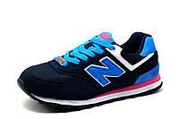 Кроссовки New Balance 574, унисекс, темно-синие с голубым, фото 1