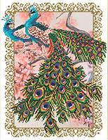 Схема для вышивки бисером Павлины на сакуре