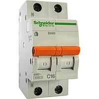 Автоматический выключатель ВА63 1П+Н 16A C Schneider Electric