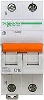 Автоматический выключатель ВА63 1П+Н 10A C Schneider Electric