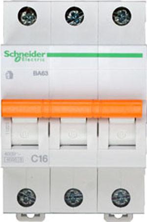 Автоматический выключатель ВА63 3П 16A C Schneider Electric