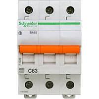 Автоматический выключатель ВА63 3П 63A C Schneider Electric