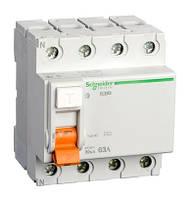 Диф. выключатель нагрузки (УЗО) ВД63 4П 63A 30МA Schneider Electric
