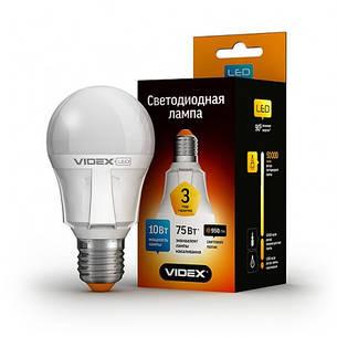 LED лампа VIDEX A60 10W E27 3000K 220V, фото 2