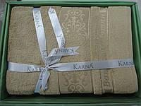 Набор полотенец подарочный бамбук кофе