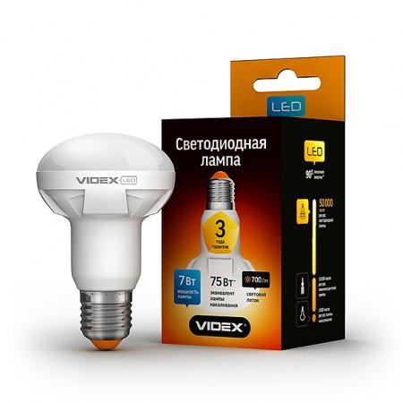 LED лампа VIDEX R63 7W E27 4100K 220V