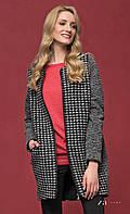 Женское теплое пальто цвета графит на молнии. Модель Lula Zaps. Коллекция осень-зима 2016-2017.