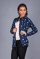 Куртка с капюшоном из плотной трикотажной ткани