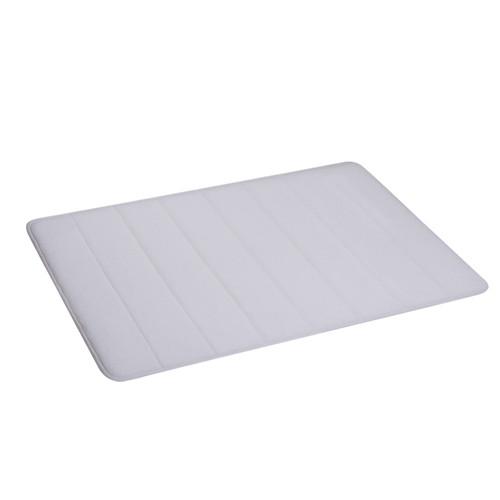 Коврик для ванной комнаты из микрофибры 50*80 белый AWD02161145
