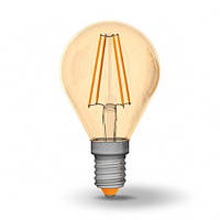 LED лампа VIDEX G45FA 4W E14 2200K 220V бронза