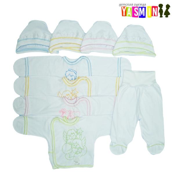 Комплект для новорожденных, на рост 56-62см. (интерлок белый)