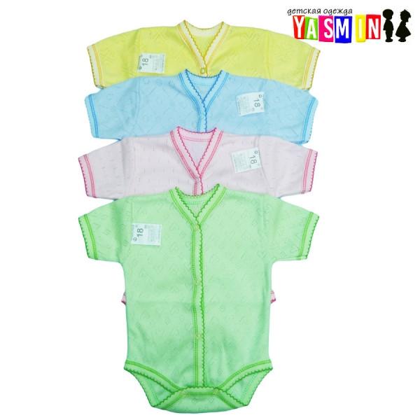 Боди для новорожденных с коротким рукавом (мультирип)