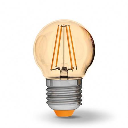 LED лампа VIDEX G45FA 4W E27 2200K 220V бронза, фото 2