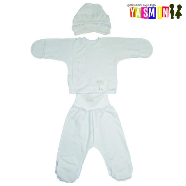 Белый комплект для новорождённых (кулир белый)