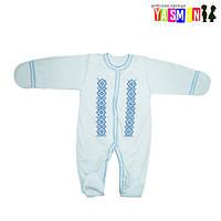 Комбинезон вышиванка для новорожденных (интерлок)
