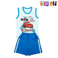 Комплект для мальчиков футболка и шорты с карманами