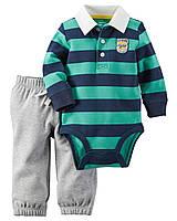 Штаны + Кофта боди Carters на новорожденного до 55 см. Набор из 2-х частей