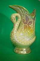 Красивая ваза Лебедь №3 перламутр