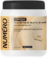 Маска для волос питательная для сухих и тусклых волос с маслом Карите 1000 мл Numero Deep Nutritive Brelil