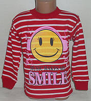 """Реглан для девочек """"СМАЙЛ"""" 6 лет, 100% хлопок.Детская одежда оптом"""