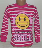 """Детские батники для девочек """"СМАЙЛ"""" 6,7,8,9,10 лет, 100% хлопок.Детская одежда оптом"""