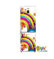 Дизайнерские наклейки на холодильник Радуга