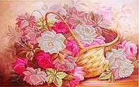 Схема для вышивки бисером Корзина с розами