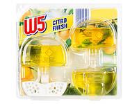 Гелевый блок для унитаза W5 WC-Stein flüssig Citro Fresh -лимонная свежесть