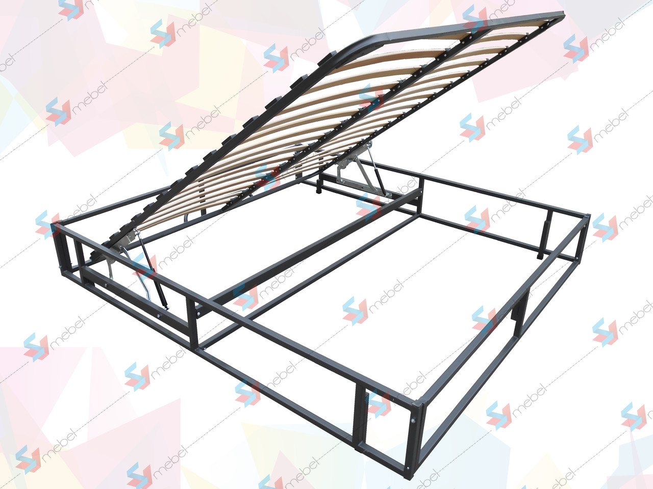 Каркас кровати с подъемным механизмом(без фиксатора) и основанием 2000х1400 мм - SVmebel в Мелитополе