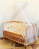 """Детское постельное белье в кроватку """"Бим Бом"""" комплект 6 ед. (мишка на месяце бежевый)"""