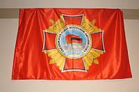 Флаги с логотипом компании на атласе