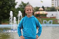 """Детский велюровый голубой спортивный костюм с кофтой кенгуру """"Gentle"""""""