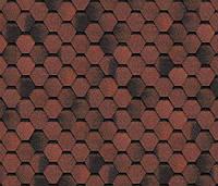 Битумная черепица SHINGLAS Финская, красный, 3 кв.м./упаковка