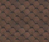 Битумная черепица SHINGLAS Финская, коричневый, 3 кв.м./упаковка