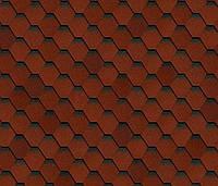 Битумная черепица SHINGLAS Классик Кадриль Соната, красный, 3 кв.м./упаковка