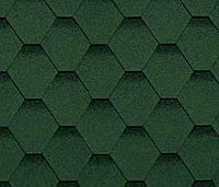 Битумная черепица SHINGLAS Классик Кадриль Соната, зеленый, 3 кв.м./упаковка