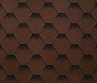 Битумная черепица SHINGLAS Классик Кадриль Соната, коричневый, 3 кв.м./упаковка