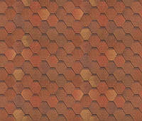 Битумная черепица SHINGLAS Классик Кадриль Соната, красно-коричневый, 3 кв.м./упаковка