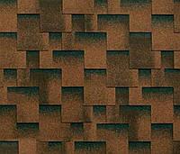 Битумная черепица SHINGLAS Классик Кадриль Аккорд, коричневый, 3 кв.м./упаковка